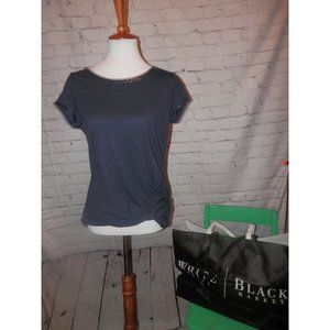 WHITE HOUSE BLACK MARKET Top Small Blue Sequin NWT